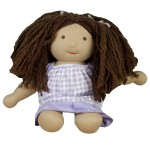 A sweet, soft doll lovingly handmade from natural wool, cotton, and silk is an ideal first doll and a beautiful, warm alternative to plastic.