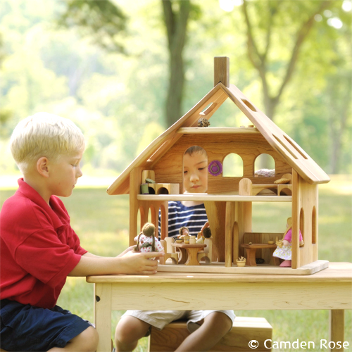 3-Story wooden dollhouse