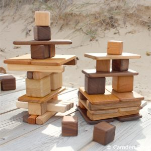 Natural wooden blocks, marble runs, and old-fashioned games and toys are a beautiful alternative to plastic, stimulating the imaginative and exquisitely handcrafted in the USA to stimulate the imagination of generations of children.