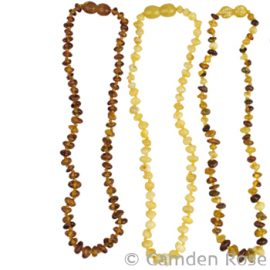 Baltic Amber Necklace, Pebble Bead