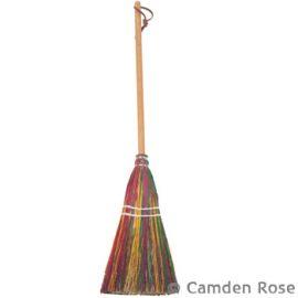 Child Size Rainbow Broom, Cherry Handle