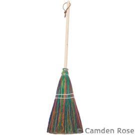 Child Size Rainbow Broom, Hickory Handle